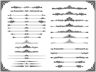Fototapeta 西洋装飾の仕切り線の素材セット