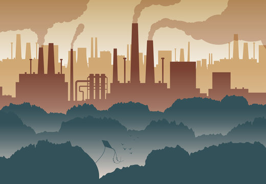 Air Polluting Illustration