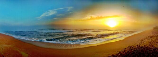 Fototapeta Scenic View Of Sea Against Sky During Sunset