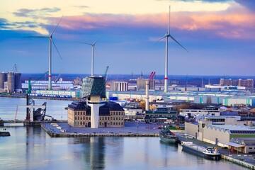 Antwerp Belgium Antwerpen city skyline eilandje