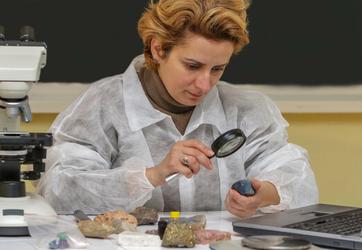 Geologist Researcher Working