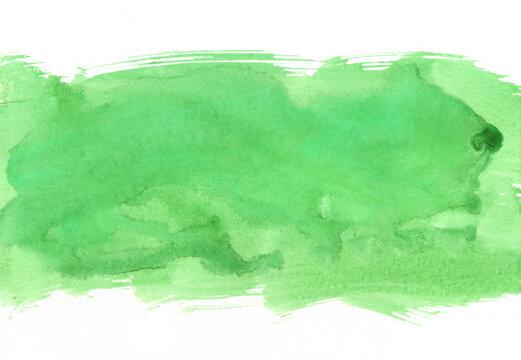 緑色の水彩の筆の跡、背景素材、テクスチャ