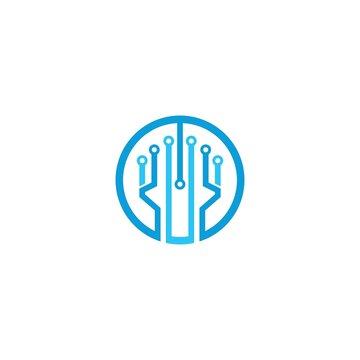 Vector Logo Technology concept illustration