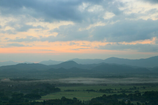 The sea of mist in the mountains