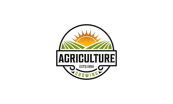 agriculture logo on white background