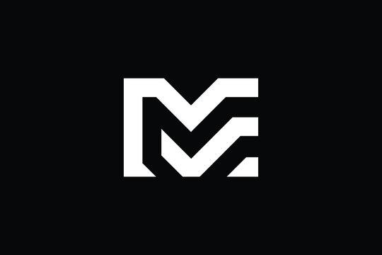 ME logo letter design on luxury background. EM logo monogram initials letter concept. ME icon logo design. EM elegant and Professional letter icon design on black background. M E EM ME
