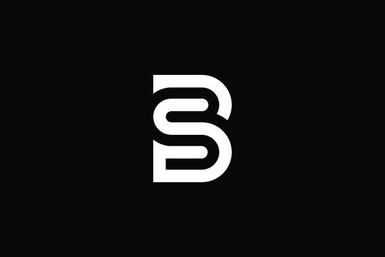 SB logo letter design on luxury background. BS logo monogram initials letter concept. SB icon logo design. BS elegant and Professional letter icon design on black background. B S SB BS