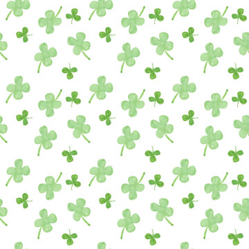 St. Patrick's day watercolor seamless pattern