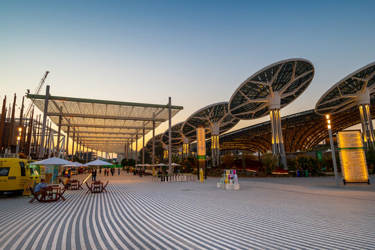 Dubai, United Arab Emirates - February 4, 2020: Terra Pavilion at the EXPO 2020 built for EXPO 2020 scheduled to be held in 2021 in the United Arab Emirates