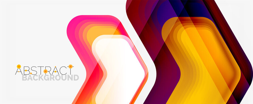Vector 3d arrow geometric composition, abstract background for business or technology presentation, internet poster or web brochure cover, wallpaper