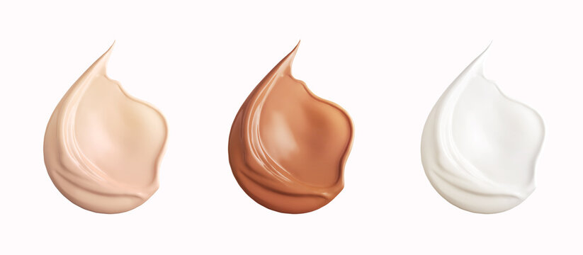 Make up smear cosmetic Liquid foundation smudge texture