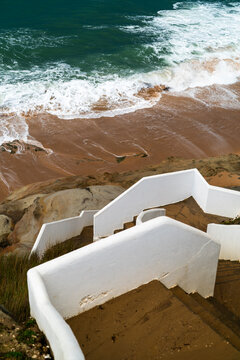 steep stairs to beach