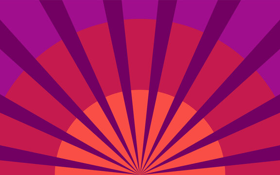 Summer rays background. Banner for circus poster