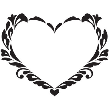 Heart frame svg, wedding design, Valentines day cut file