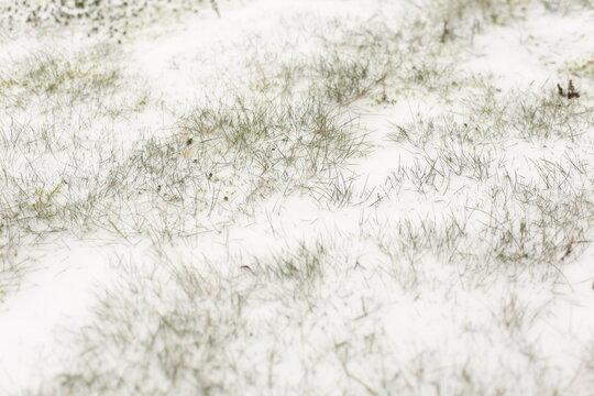Snowstorm in small German town, goaf, logjam, slashing, gorge, gob, winter in Germany