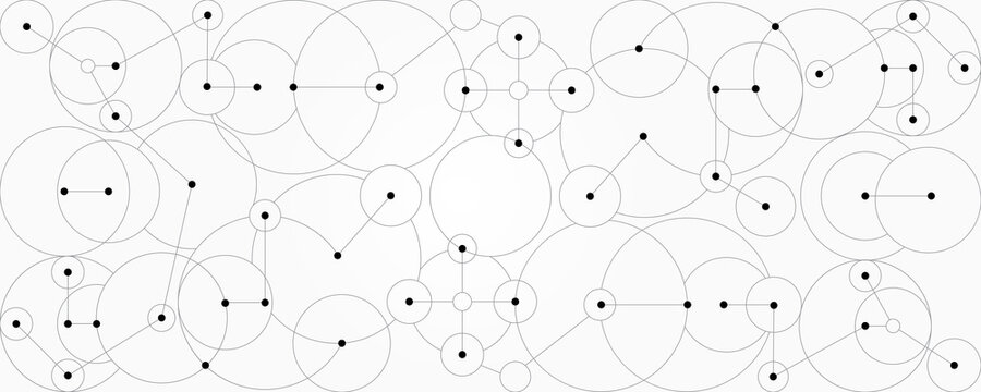Abstract lines and dots connection background Spherical digital data connection technology and data concept.