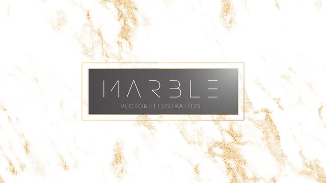 White gold marble halftone texture. Wedding design vector illustration. Luxury golden marble texture for party invitation. EPS 10.