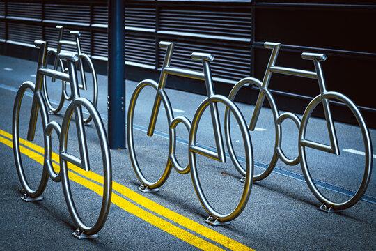 modern design of  lockers for bikes