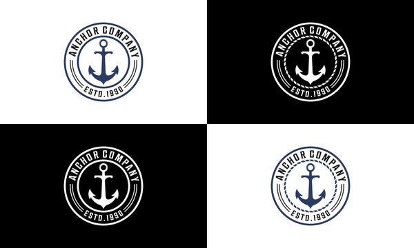 ancor  logo design vector in white background
