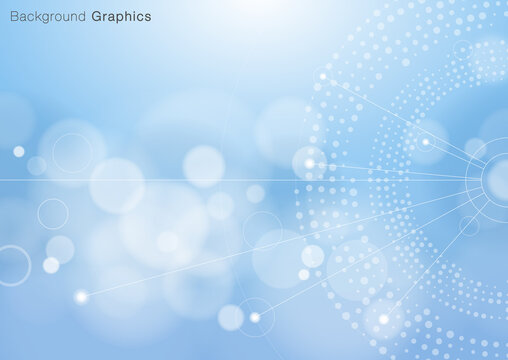 Abstract blue background. Vector graphics. Information and communication image.