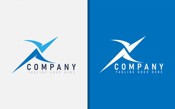 Abstract Initial Letter X logo Design. The letter X Made of 2 Modern Shape. Usable For Business, Tech, Sport, Service, Community Company. Vector Logo Illustration.