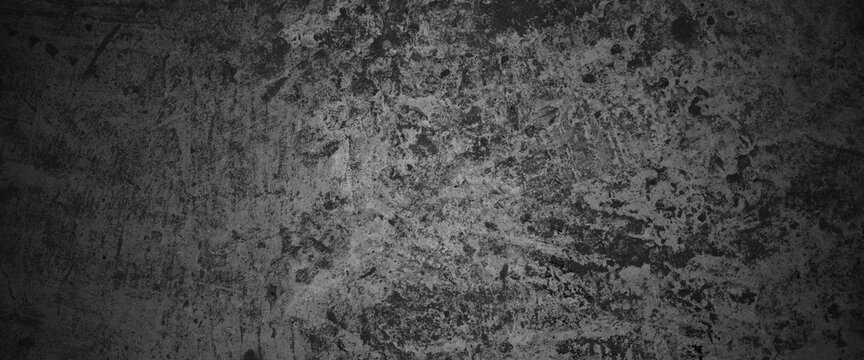 Horizontal dark old cement wall for the background