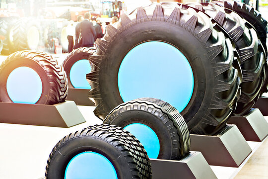 Tractor tires in store exhibition