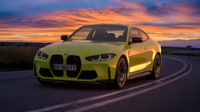 The new BMW M4 Competition sports car.