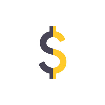 dollar sign icon stock vector illustration dollar on white background