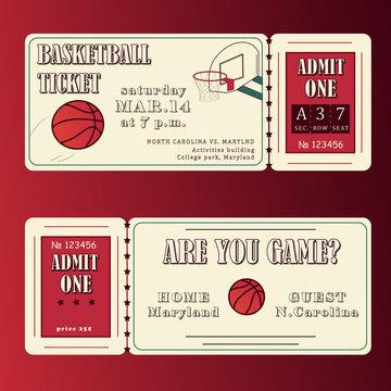 Ticket basketball