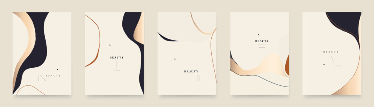 Abstract trendy universal artistic background templates. Modern minimalist style.