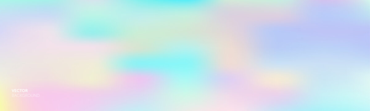 Gradient background, color gradation abstract vector mesh blend of purple soft bright and holographic iridescent pattern