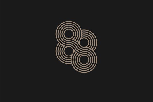 Number 88 Logo, Monogram Number 88 logo multi line style, usable for anniversary and business logos, flat design logo template, vector illustration