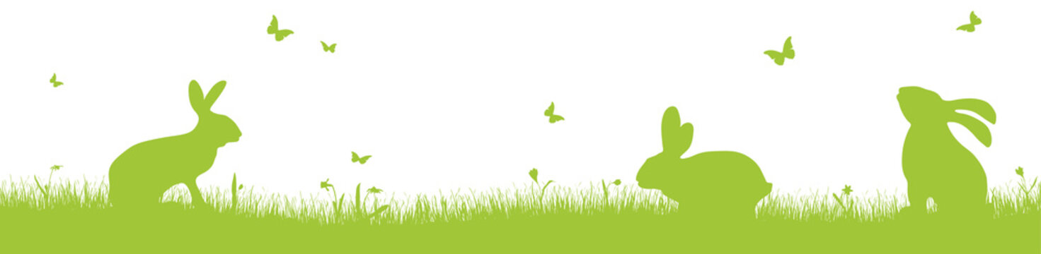 happy easter time silhouette background