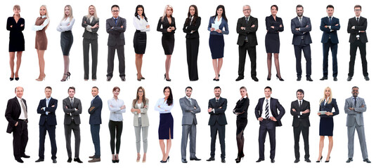 Obraz successful business people isolated on white background - fototapety do salonu