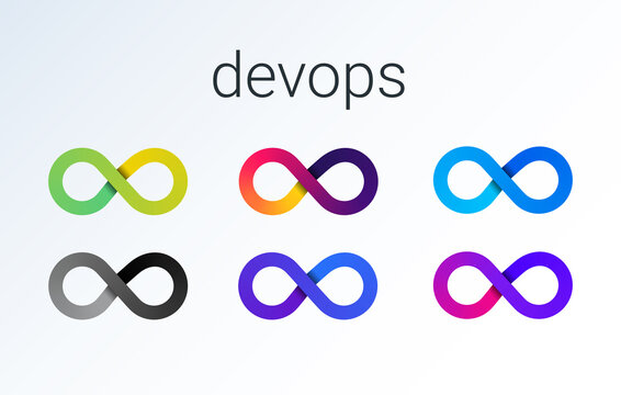 DevOps icon. software development - Dev and IT operations - Ops . loop eight logo for software technology companies. vector gradient icon illustration