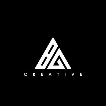 BG Letter Initial Logo Design Template Vector Illustration