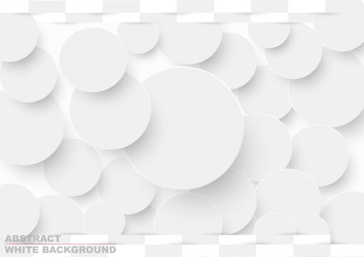 White frame paper cut circle and 3d square card drop shadow abstract background.Vector business presentation office online.