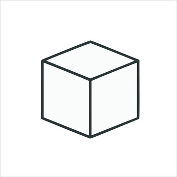 Cube icon. square. box. vector cube. drawer icon. cube in a flat style. eps 10 drawer icon