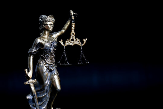 Statue of Lady Justice with Weight Scale. Justice Concept