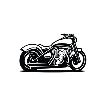 Motorcycle silhouette. Motor bike vector isolated illustration