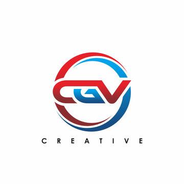 CGV Letter Initial Logo Design Template Vector Illustration