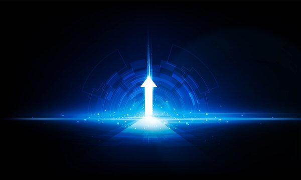 Abstract speed Lightning Door arrow up technology background Hitech communication concept innovation background,  vector design