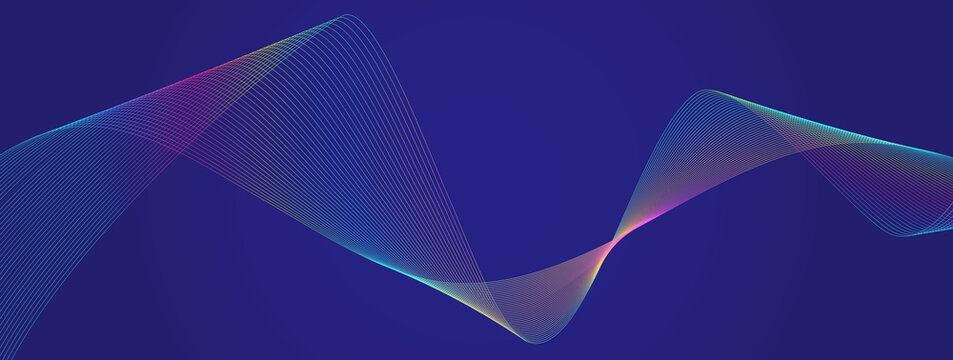 Digital wave particles background. Data science, system illustration. Software, glow wavy technology lines. Matrix, artifact intelligence abstract. Sound texture.