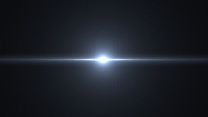 light flash on black background