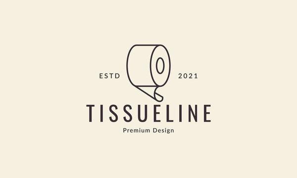 roll circle tissue lines logo symbol vector icon graphic design illustration