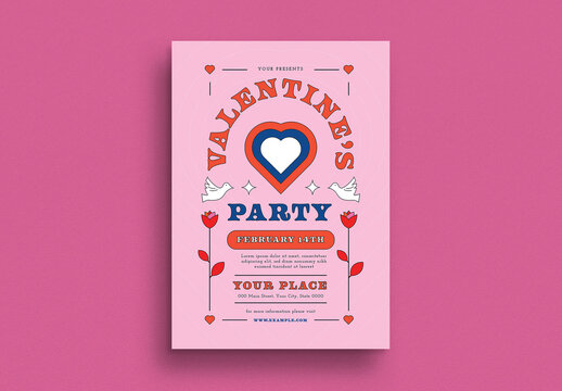 Valentine Party Event Flyer Layout