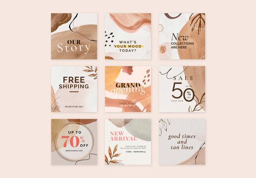 Brown Fashion Sale Layout Design