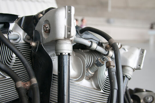 Pratt and Whitney R-1830 aero engine cylinder
