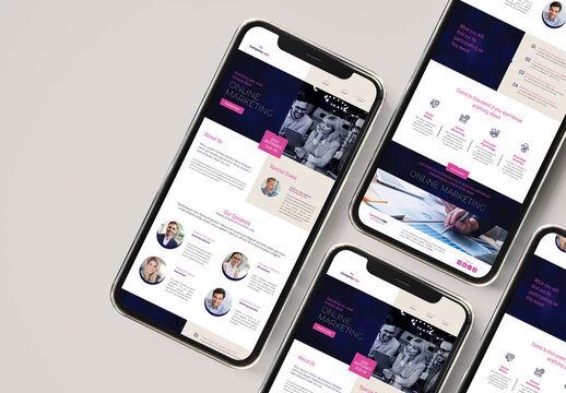 Webinar Email Newsletter with Blue and Magenta Accents